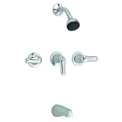 American Standard 3 Handle Tub Shower Faucet by American Standard Colony 3 Handle 1 Spray Tub And Shower