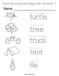 colors that start with t trace the words that begin with the letter t coloring page