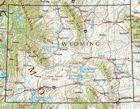 Map Of Wyoming State by Wyoming Reference Map