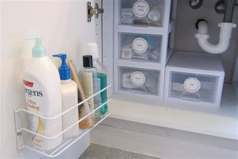 bathroom under sink storage under sink storage bathroom organizer houselogic storage