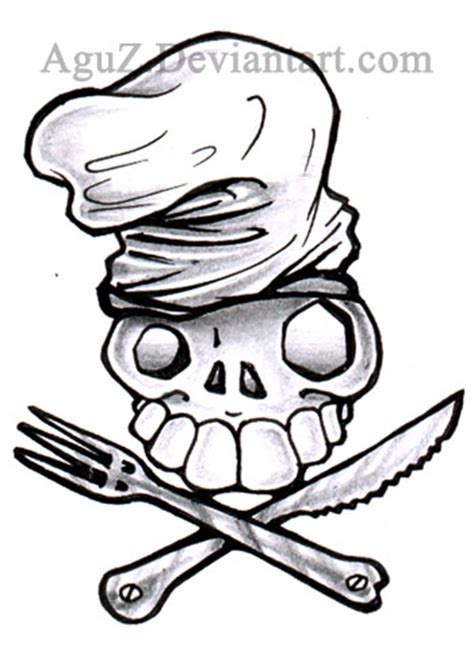tattoo chef cartoon original chef skull tattoo by aguz on deviantart