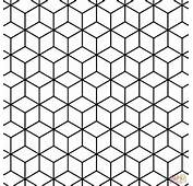 With Rhombus Pattern Coloring Page Free Printable Pages