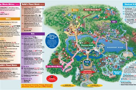 walt disney world park maps my