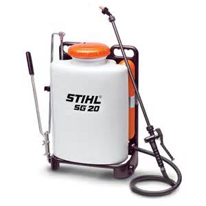 The stihl sg 20 manual backpack sprayer is designed for professionals