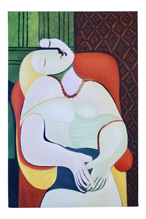 picasso paintings le reve reproduction quot la r 234 ve quot painting by pablo picasso chairish