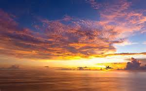 Ocean sunset horizon wallpapers pictures photos images