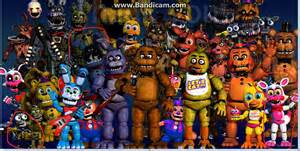 Fnaf world adventure toy foxy withered bonnie and endoskeleton