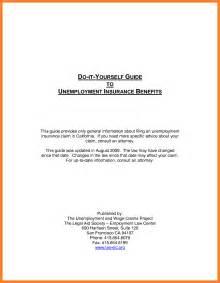 Edd Appeal Letter by 4 Unemployment Letter Sle Invoice Exle 2017
