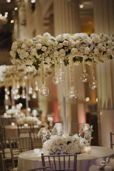 Chandelier Centerpiece Wedding White Floral Chandelier Centerpieces Flower Arrangements Bouquets And More