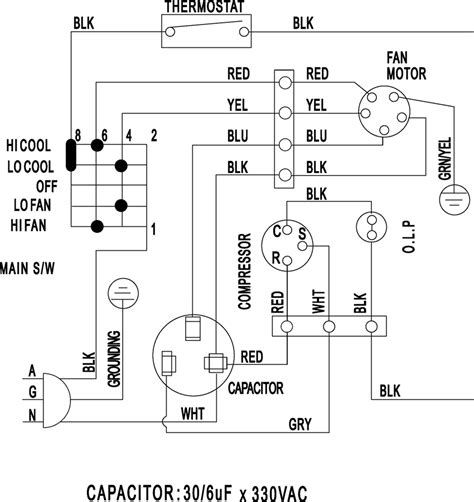 run capacitor wiring diagram air conditioner wiring