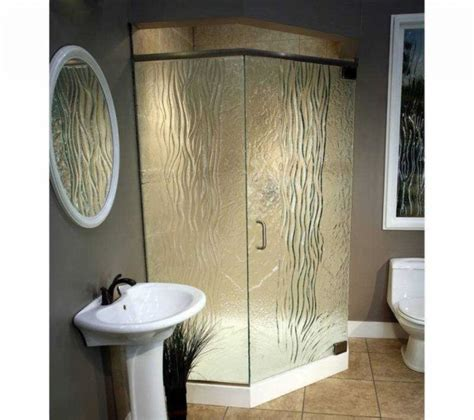 Textured Glass Shower Doors Variety Of Shower Enclosure By Glass