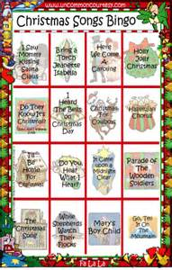 Christmas songs bingo uncommon courtesy