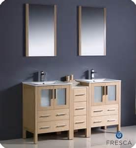 60 inch bathroom vanity cabinet fresca fvn62 241224lo uns torino 60 inch light oak modern