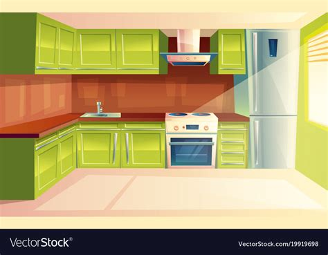 images of kitchen interior modern kitchen interior background vector image