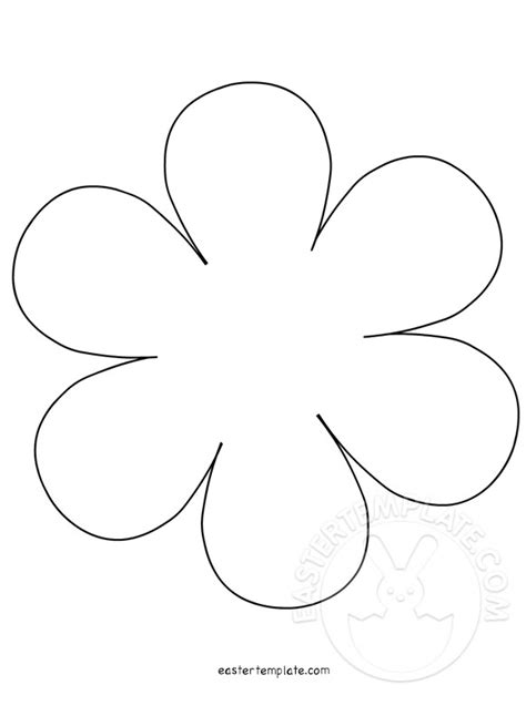 printable preschool flowers flower template paper flower template word doc download