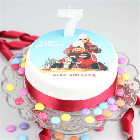 Personalised Cakes by Personalised Photo Topper Birthday Cake Decoration Kit By