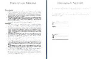 confidentiality agreements templates confidentiality agreement template free agreement and