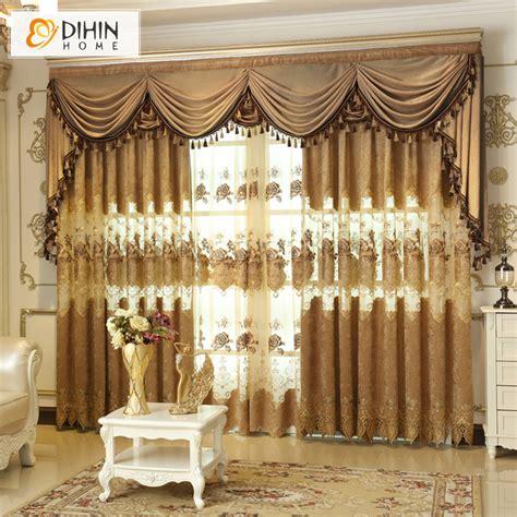 curtains balcony dihin european embroidery living room bedroom balcony