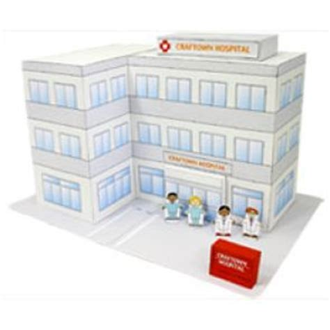 Canon Creative Papercraft - hospital craftown toys paper craft canon creative