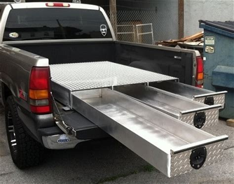 truck bed tool box bb48 3lp series truck bed tool box 3 drawer 48 quot l x 48 quot w x 7 1 2 quot h low profile