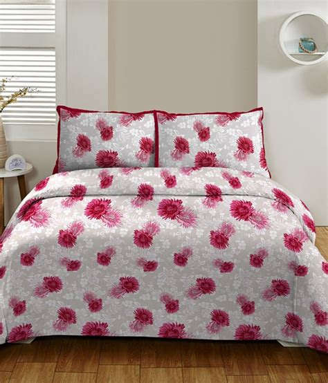 maroon bed sheets dctex furnishings king size floral print maroon white
