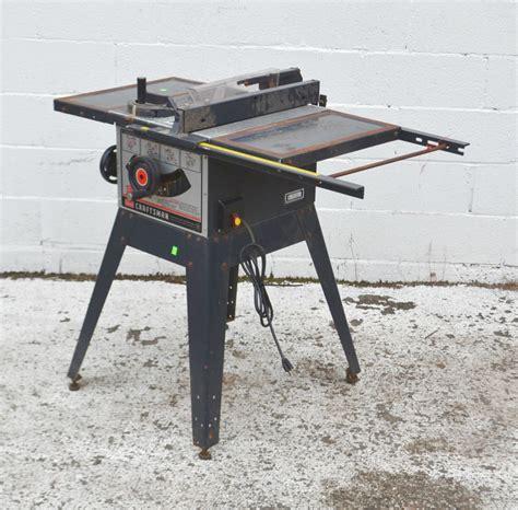 Craftsman 9 Inch Table Saw Model 113 242721 3758 40 Ebay
