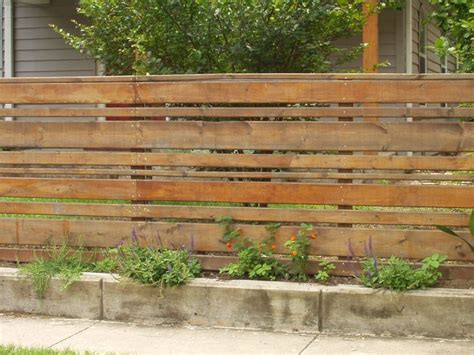 horizontal wood fence horizontal wood slat fence garden and outside stuff