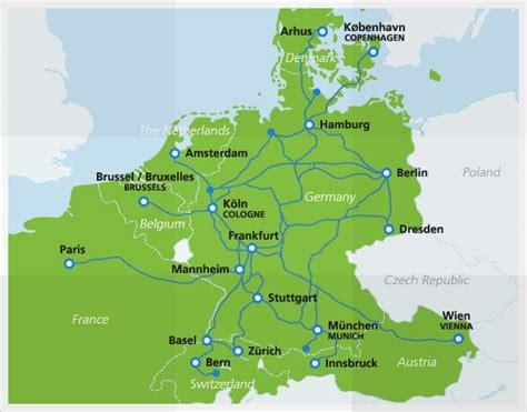 netherlands eurail map high speed eurail