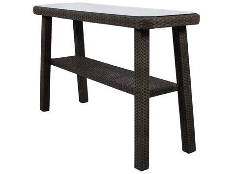 Outdoor Console Table Source Outdoor Furniture Tahiti Wicker 60 X 18 Rectangular