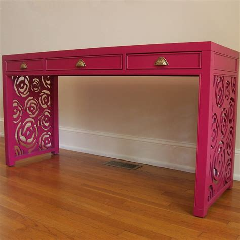 pink desk pretty furniture