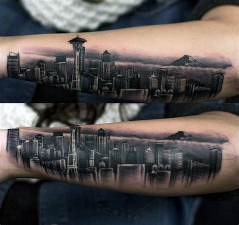 seattle skyline tattoo 52 seattle skyline ideas stocks golfian