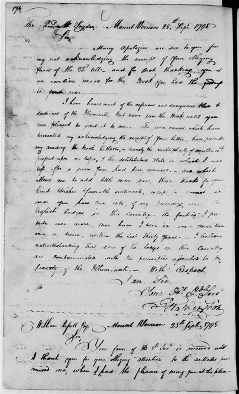george washington illuminati george washington letters warning about the dangerous