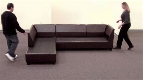 bobkona sectional sofa reversible assembly youtube