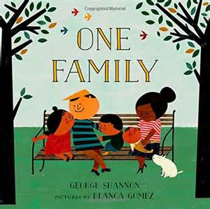 the family cookbook books one family by george shannon illustrated by blanca gomez