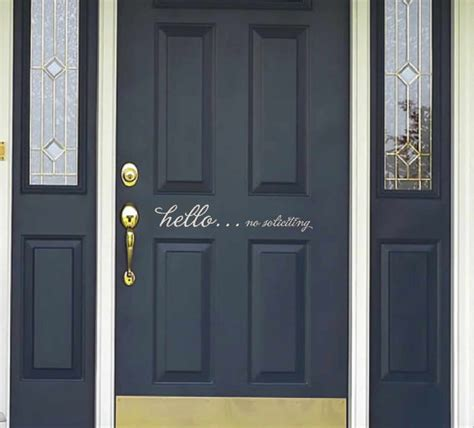 Hello Front Door Decal Door Decal Hello No Soliciting Decals For Door Front
