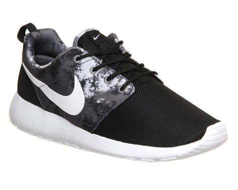 black and white pattern roshe nike roshe run black white cool grey print unisex sports