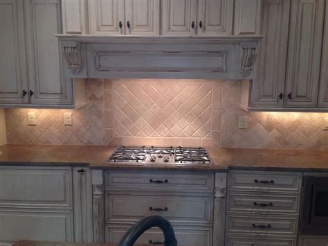Tumbled Marble Kitchen Backsplash Backsplash Tumbled Marble Travertine Herringbone Tile Projects Pinterest Herringbone