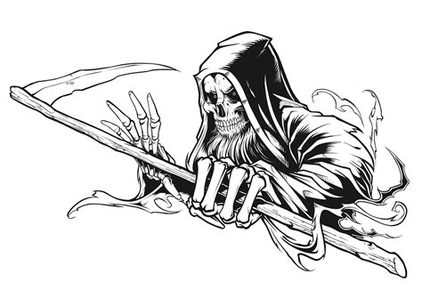 thrasher magazine grim reaper concept on behance