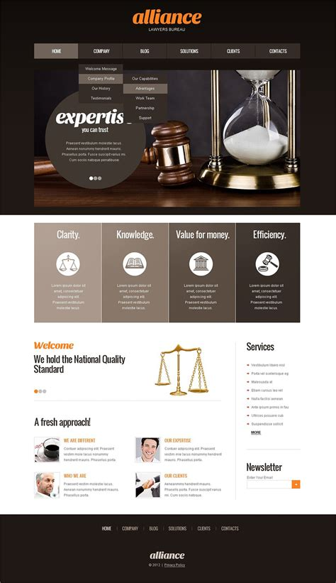 Best Website Builders For Lawyers And Law Firms Lawyer Web Templates