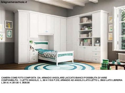 camerette con armadio angolare cameretta con alcova per letto singolo e armadio angolare