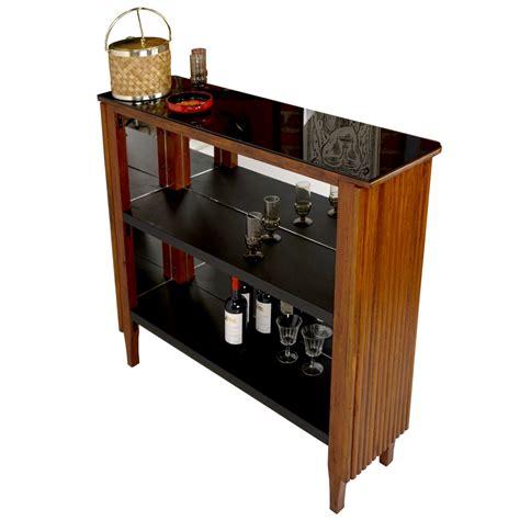 mobile bar vintage mobile bar vintage in vetro nero e similpelle in vendita