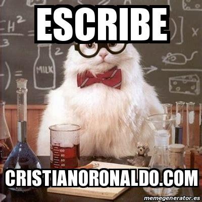 Chemistry Cat Meme Generator - meme chemistry cat escribe cristianoronaldo com 26510294
