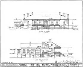 Are House Floor Plans Public Record file umbria plantation architectural drawing of front