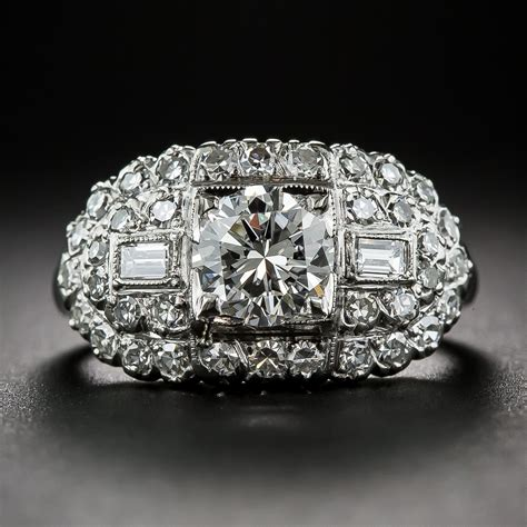 Bros Jilbab Aksesoris Brooch Accessories Souvenir 9 97 carat and platinum vintage engagement ring by granat bros