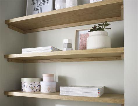32 Floating Shelf by Oak Floating Shelf 32x145mm Solid American White Oak