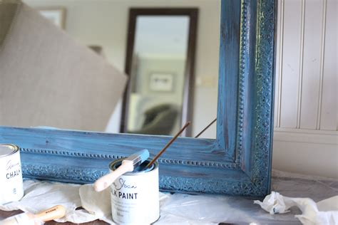 diy chalk paint mirror sloan chalk paint diy mirror update and knit