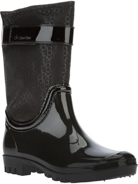 klein boots calvin klein wellington boot in black lyst