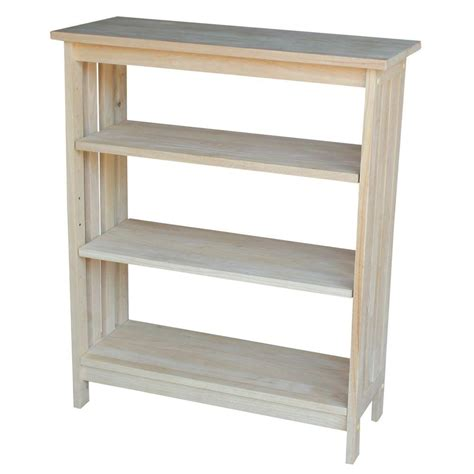 international concepts unfinished open bookcase sh 3630m