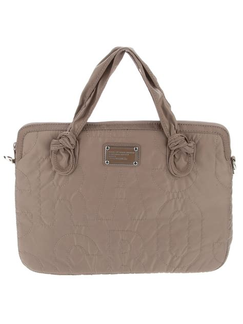 marc by marc designer stitched laptop bag in gray