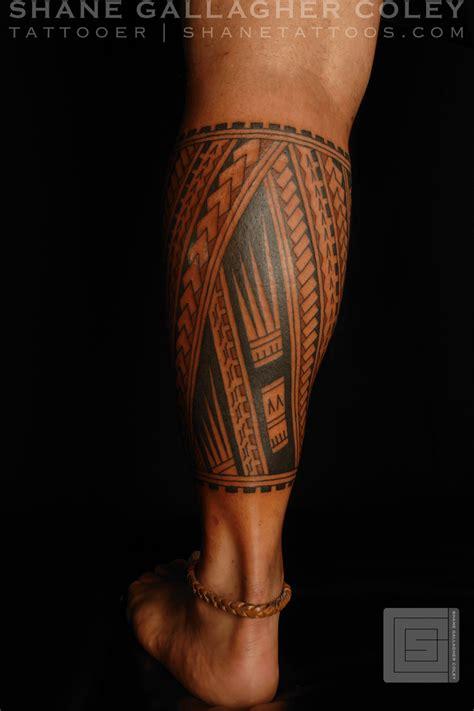 tribal tattoos calf muscle shane tattoos polynesian calf tatau ink